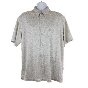 Quiksilver XL Shirt Button Front S/S Point Collar